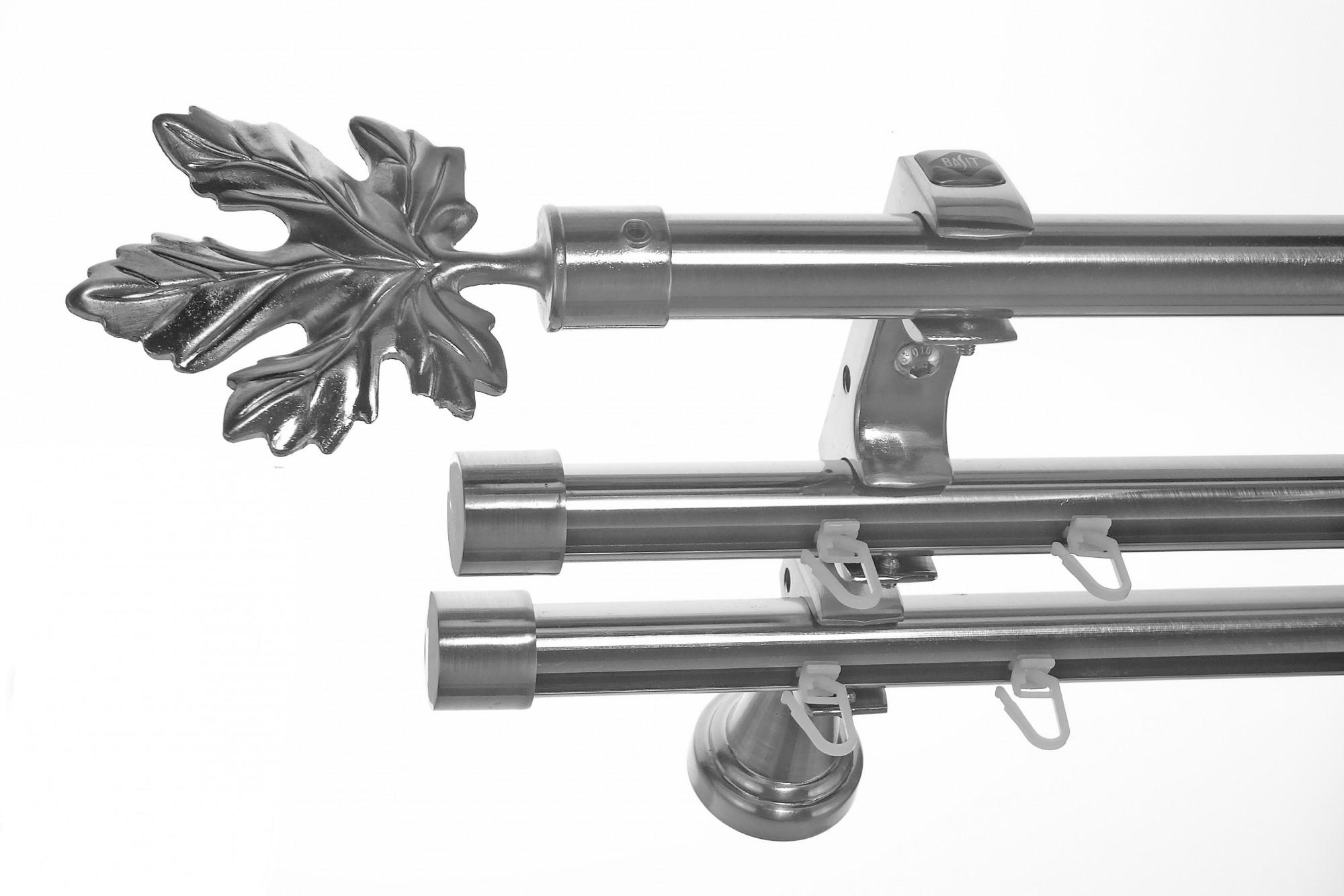 Rohr Und Innenlauf Edelstahl Look Gardinenstange Dm 20mm 3 Läufig