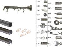 Rohr und Innenlauf Edelstahl Look Gardinenstange dm 20mm 3 läufig H60RI + 1xB20I