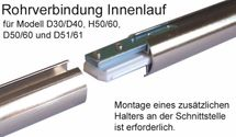 BASIT Gardinenstangen Rohrverbinder unser 20mm Innenlaufgardinenstangen RV20I