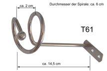 Drapierhaken für Gardinen Edelstahl Look 1 Paar T61