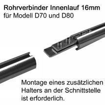 BASIT Gardinenstangen Rohrverbinder für 16mm Innenlaufgardinenstange RV16I