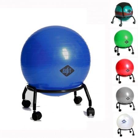 BASIT Easy Gesundheits Büro Sitzballstuhl Gymnastikball Erwachsene und Rollen