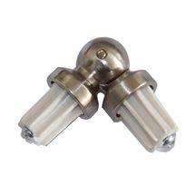 BASIT Eckverbinder Winkelverbinder für Gardinenstangen Rohr 16mm W16