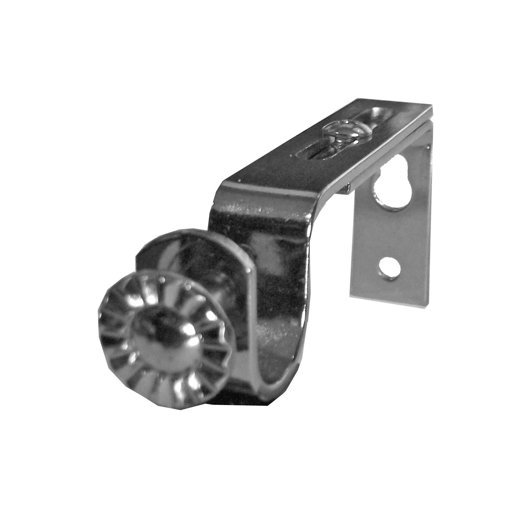 Edelstahl Look Träger Wandhalter zweiläufig für 20mm Gardinenstangen NEU 12 cm