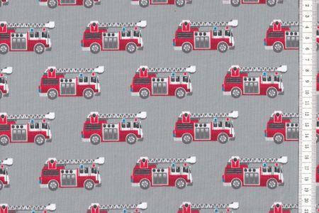 Jersey Firetruck Feuerwehr auf grau