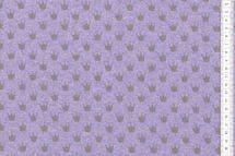 Sommersweat Krönchen grau auf flieder meliert  001