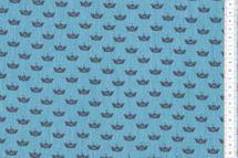 Jeansstoff Jeans Boat Boot auf blau 100% Baumwolle 001