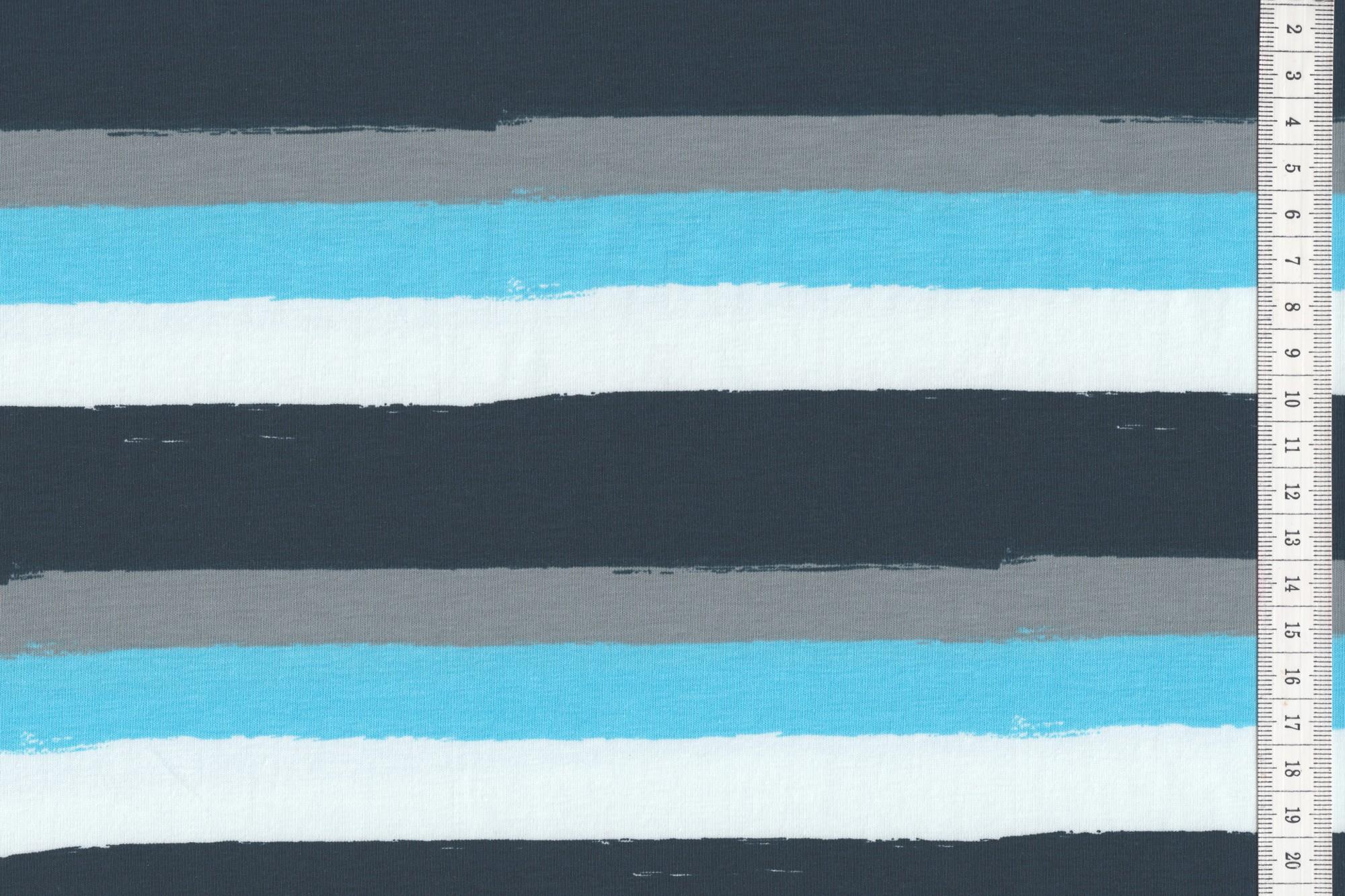 baumwoll jersey quer gestreift weiss blau grau navy jersey muster. Black Bedroom Furniture Sets. Home Design Ideas