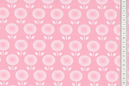 Baumwoll Jersey Blumen auf rosa by Annecke