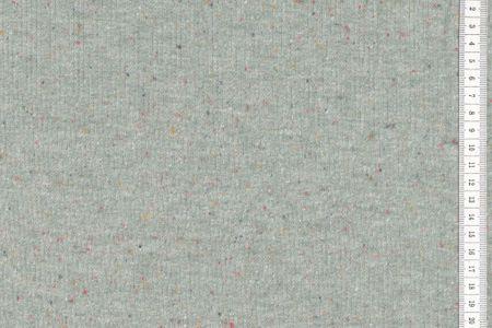 Konfetti Sweat hellgrün meliert Uni mit farbigen Punkten
