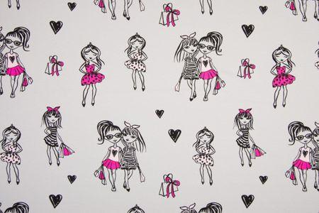 Jersey Fashion Girls auf grau  – Bild 1