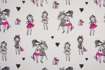 Jersey Fashion Girls auf grau  001