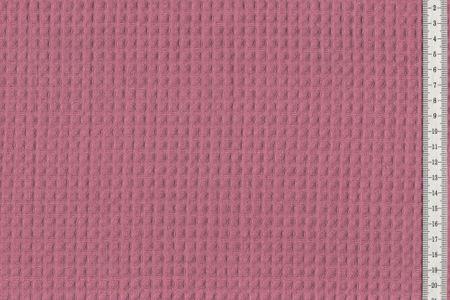 Waffelpique Waffelstoff dunkles Pink 100% Baumwolle