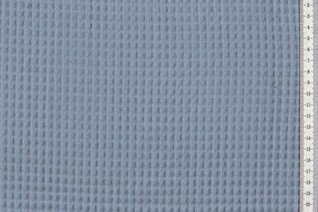 Waffelpique Waffelstoff helles Blau 100% Baumwolle – Bild 1