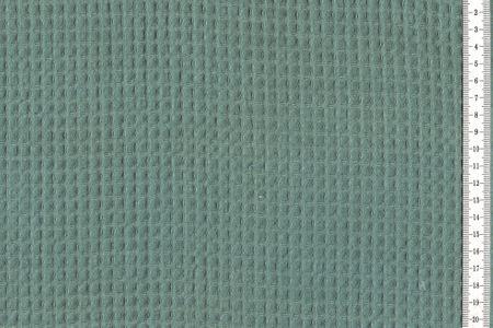 Waffelpique Waffelstoff petrol 100% Baumwolle