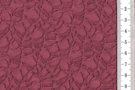 Polymash mit Spitze aus Polyester bordeaux – Bild 1