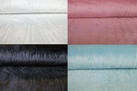 Fleece Stoff Alpenfleece Flausch in weiss hellbau schwarz oder pink uni  in pink – Bild 1