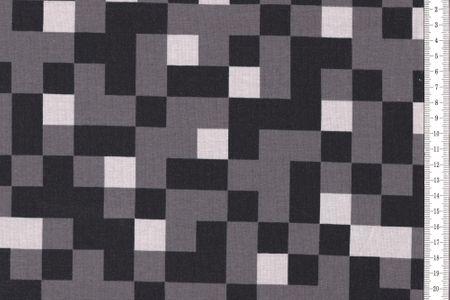 Baumwolljersey schwarz weiss grau von Swafing