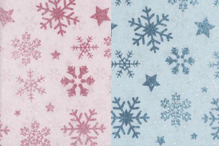 Sommersweat mit Wintermuster: Sterne Kristall in blau oder altrosa – Bild 1