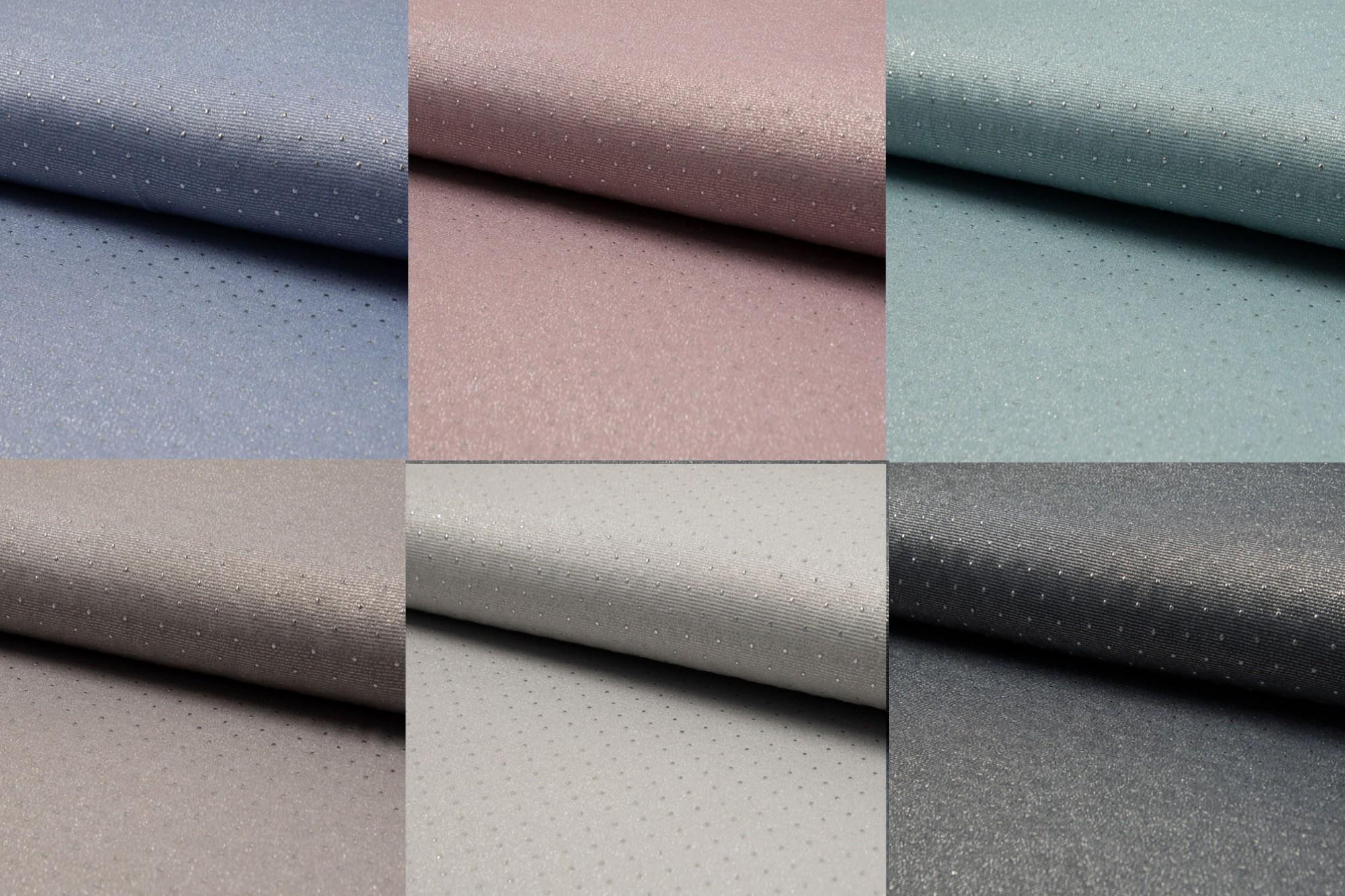 Glänzender Jersey Mit Punkten In Taupe, Altrosa, Silber Grau, Mint, Jeans  Oder Grau