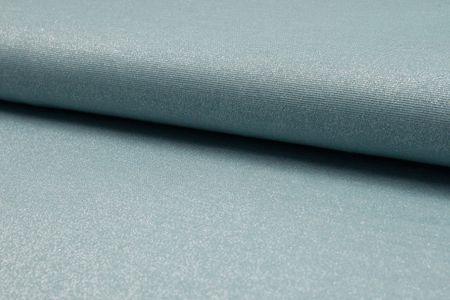 glänzender Sparkling Jersey in taupe, altrosa, silber grau, mint, jeans, dunkelgrau oder grau – Bild 4