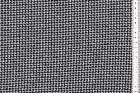 Jacquard Jersey Isabel mit Flechtmuster, Hahnentritt, Herringbone, Herzen, Zickzack oder Kariert in schwarz- weiss  von Swafing – Bild 3