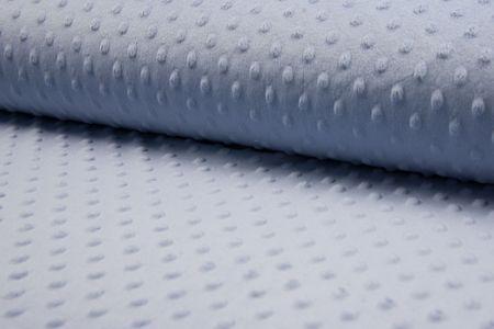 Minky Fleece mit Noppen 3 D Flausch  in blau, aqua, petrol, fuchsia, navy oder altrosa wählbar – Bild 2