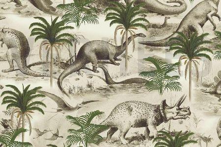 Baumwoll Jersey Dino Time  – Bild 1