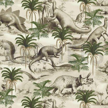 Baumwoll Jersey Dino Time  – Bild 2