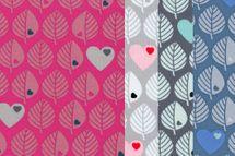 Sweat Blätter mit Herzen by Graziela in hellgrau, grau, jeansblau oder pink-erika 001