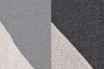 Strickstoff BEN, Chevrons, meliert , in grau oder schwarz von Swafing 001