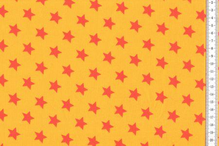 Baumwolljersey mit Sternen auf gelb, orange, fuchsia, rot, grün, lila, petrol oder navy – Bild 2