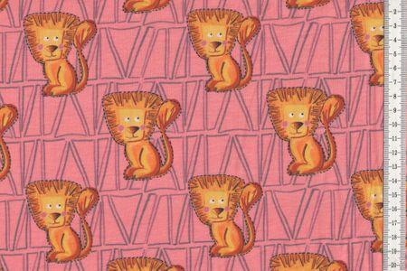 Jersey Lionboho by Cherry Picking Löwen auf blau oder apricot von Swafing   by Cherry Picking Löwen auf blau oder apricot von Swafing – Bild 2