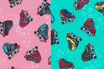 Sommersweat Retro Skates by Lila-Lotta auf koralle oder mint von Swafing 001