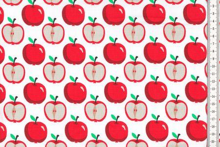 Baumwolle Äpfel auf blau oder weiß – Bild 2