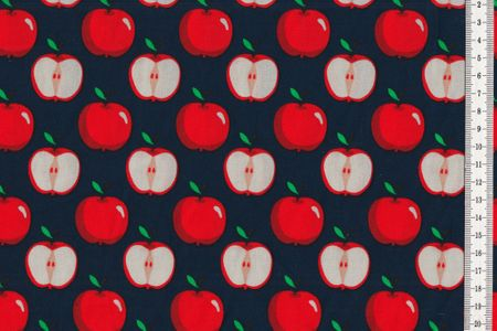 Baumwolle Äpfel auf blau oder weiß – Bild 3