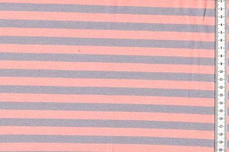 """Jersey Stoff """"Isa"""" gesteift in rauchblau/grau, braun/orange, grau/rose, pink/orange, dunkelgrün/grün rot/türkis oder von Swafing – Bild 2"""