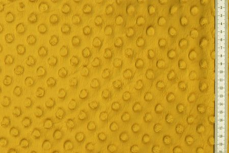 Minky Fleece mit Noppen 3 D Flausch  in senf farben