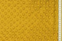 Minky Fleece mit Noppen 3 D Flausch  in senf farben 001