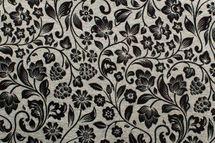 Viskosejersey mit Blumen auf grau meliert 001