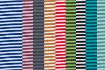 Baumwolljersey gestreift blau, rot, bordeaux, mint, grün, grau, schwarz, senf und petrol 001