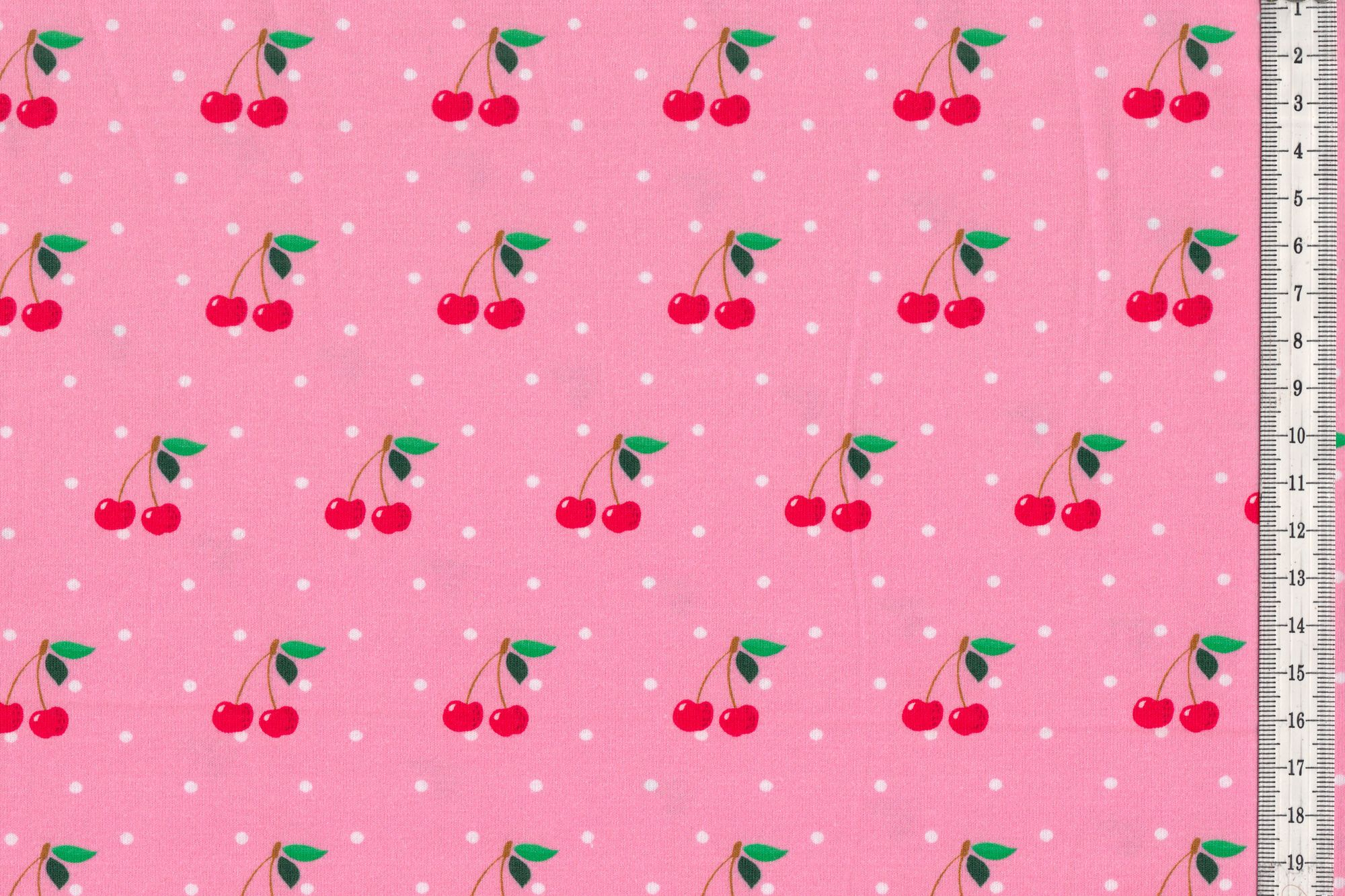 jersey stoff kirschen mit schwarzen punkten auf wei oder kirschen mit wei en punkten auf rosa. Black Bedroom Furniture Sets. Home Design Ideas