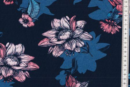Jersey Blumen Miezes Schattenblüte Eigenproduktion
