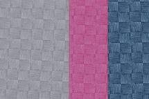 """French Terry Stoff """"Rick"""" mit Kritzel-Schachbrett auf blau, grau oder pink von Swafing 001"""