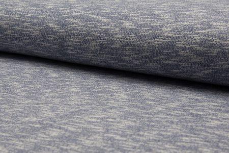 Heavy French terry Brushed Dyed uni oder gestreift in den Farben jeans, altrosa oder mint, angeraut – Bild 4