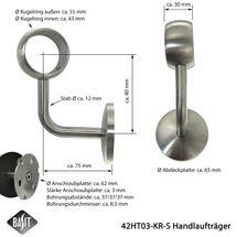 Edelstahl Handlaufträger Geländer Handlaufhalter Wandträger mit/ohne Gelenk Ø42