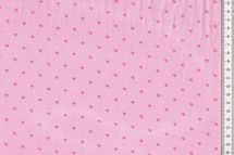 Musselin Baumwollstoff gemustert Herzen auf rosa 001