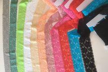 Elastische Spitze mit Blumen in vielen Farben 001