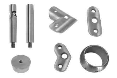 Edelstahl Handlaufträger Geländer Handlaufstütze Handlaufhalter Teile Ø42,4mm