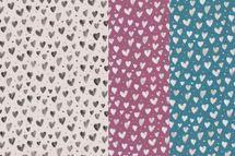 Jersey Stoff mit Herzen auf schlamm, altrosa oder blau 001